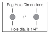 Peg Hole Dimensions for Pegboard/Slatwall Display Hooks