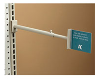 Tool-Free Telescopic Gripper Aisle Sign Holder - Gondola