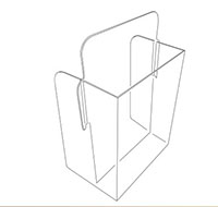 Fold-Up Easel Back Literature Box - 2
