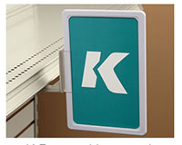 K-Frame Magnetic Under-Shelf Holder