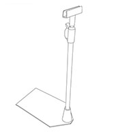 K-Frame Shovel Base Adjustable Stem Holder - 2