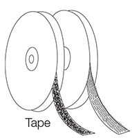 "Hook & Loop Fastener, Tape, 5/8"" Hook, White - 2"