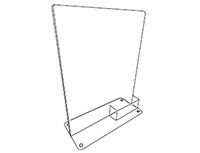 T-Style Sign Holder With Business Card Pocket - 2