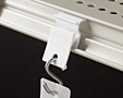"Shelf Extender Clip With 1/4"" Hole"