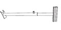 Telescopic Gripper Aisle Sign Holder - Pegboard/Slatwall - 2