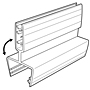 Hinged Gripper Square Edge Sign Holder - 2