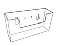 Rigid Wall Mount Coupon Holder - 2