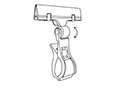 Spring Clip-On Two-Way Ratcheting Sign Holder - 2