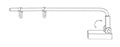 Magnetic Adjustable Double-Hook Aisle Sign Arm - 2