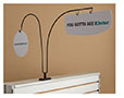 Double Magnetic Adapter Base For Aisle Sign Arms - Aisle Sign Arms Sold Separately