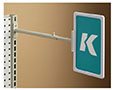 K-Frame Telescopic Gondola Aisle Holder