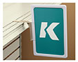 K-Frame Plastic Shelf-Top Holder
