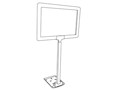 Plastic Sign Frame - Adjustable Stem - 2